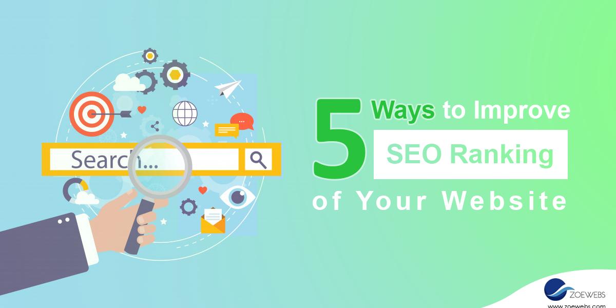5 ways to improve seo rank - featured